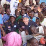 Jutta mit Patenkind Awa in Dakar