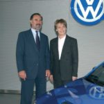 Vertragsunterzeichnung mit Volkswagen 2002
